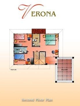 Layout of Verona (Second floor)