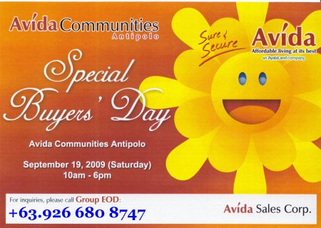 Avida Antipolo Open House - September 19