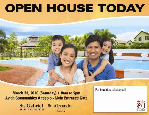 Avida Antipolo House and Lots Open House
